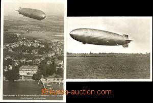 42990 - 1936 2  B/W postcard Zeppelin Graf Zeppelin, 1x Us, cachet,