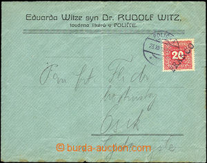 43000 - 1918 commercial letter franked with. Austrian Postage due st