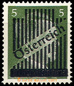 43021 - 1945 Mi.668II. with plate variety overprint - interrupted li