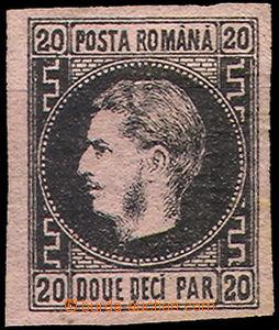 43027 - 1866 Mi.14y prince Charles I., wide margins, ribbed paper, c