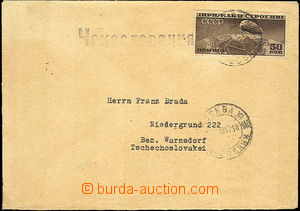 43060 - 1937 letter to Czechoslovakia with Mi.400B Zeppelin, CDS Mos
