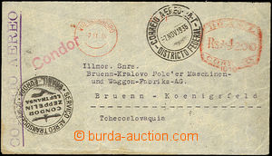43091 - 1935 letter from Brazil to Czechoslovakia, franked by meter