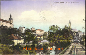 43101 - 1917 Kutná Hora - Vrchlice, color colored postcard with vie