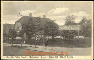 43104 - 1930 Rotterdam, Hotel Het Witte Paard,  B/W postcard, used,