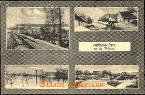 43106 - 1930 Heřmaničky on/for Wilsonově railway,  B/W 4-view pos