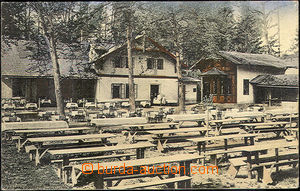 43109 - 1930 Rudolfov, excursion restaurant, colored postcard, used,