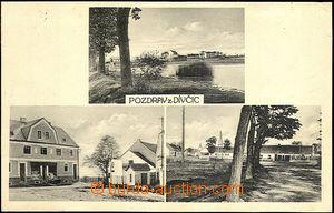 43110 - 1930 Dívčice, čb 3-záběrová, použitá, smytá známka
