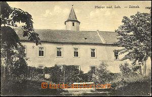 43112 - 1920? Přerov nad Labem, zámek, čb, použité, smytá zná