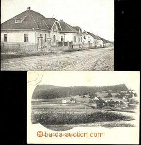 43113 - 1919 Kostelec nad Černými lesy, 2 pcs of  B/W Ppc , 1x vie
