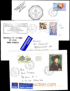 43115 - 2001-4 FRANCE  comp. 8 pcs of letters delivered French field