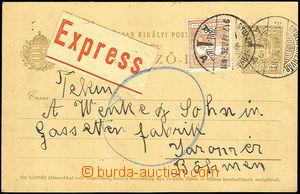 43138 - 1912 dopisnice Mi.P29 zaslaná jako Ex do Čech s dofr. zn.
