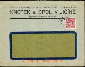 43143 - 1939 ČaM  firemní dopis vyfr. čsl. známkou 1Kč s perfin