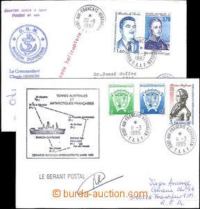 43183 - 1995-97 2 dopisy vyplacené příležitostnými zn. T.A.A.F, 1x D