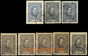 43190 -  Pof.140-142, comp. 8 pcs of stamps with various coincidenta