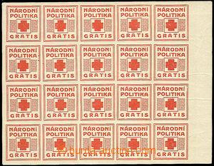 43202 - 1919 Pof.NN17/II.PL newspaper provisory (hinge / label) Nati
