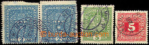 43207 - 1918 First Day Czechoslovakia - 3 pcs of Austrian stamps wit