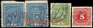 43207 - 1918 1.den ČSR - 3ks rakouských známek s datem 28.10.1918, K