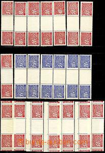 43210 - 1939 Pof.DL1-14M, doplatní meziarší trhané, řezané, ko