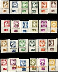 43212 - 1941 Pof.SL1-12 Official I., complete set plate number 1-41