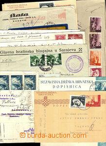 43250 - 1940-44 CROATIA  selection of 18 pcs of entires addressed ma