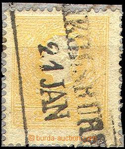 43251 - 1858 II.emise  Mi.10II, 2Kr oranžová, Ferch. 650€