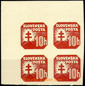 43294 - 1939 Alb.NV14 Coat of arms, UL corner blk-of-4 with margin,