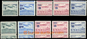 43299 - 1949 Pof.L29-L32 provisory with upper and lower margin, by/o