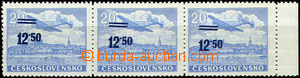 43300 - 1949 Pof.L30 overprint provisory, horizontal strip of 3 with