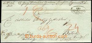 43307 - 1834 skládaný Ex offo dopis a oválným raz. GR.TAPOLTSAN,