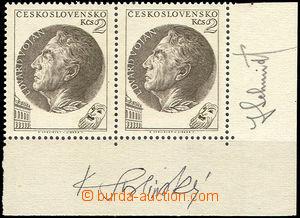43309 - 1953 Pof.759 ND a Vojan, vodorovná 2-páska s okraji a podp