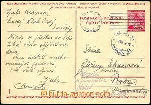43327 - 1942 CDV13/II.díl použitá v místě, podací SR Praha 25/