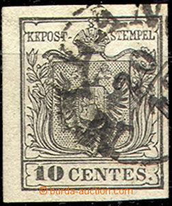 43349 - 1850 LOMBARDSKO-BENÁTSKO  zn. 10c I.emise, Mi.2, typ III, MP