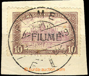 43364 - 1918 Mi.25I, overprint on/for Hungarian stamp. 10K Parliamen