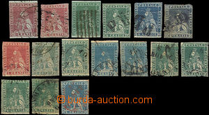43403 - 1851-59 selection of 16 pcs of stamp. issue Lion 1851 and 18