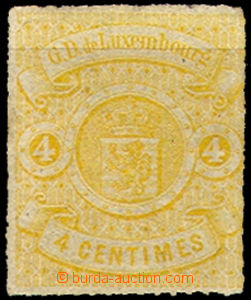 43411 - 1865 Mi.14 Coat of arms, light dirty edge/-s, otherwise well