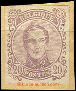 43418 - 1858? trial print 20C Leopold I., violet color, without perf