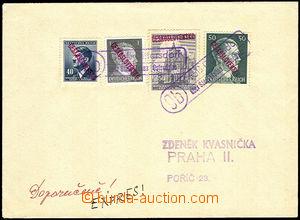 43479 - 1945 filat. dopis (Kvasnička) s německými a protektorátn