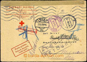 43482 - 1945 TRACING SERVICE  official envelope search service Red C