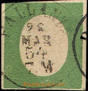 43491 - 1854 Mi.7, nahoře a dole těsný střih, pěkné DR PALLANZ
