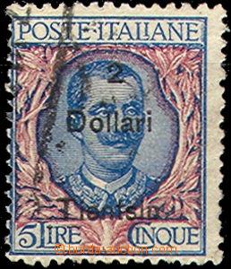 43493 - 1917 ITALSKÁ POŠTA V ČÍNĚ  Mi.56I, přetisk Tintsin 2US
