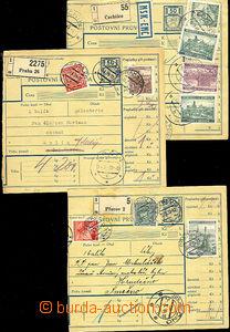 43497 - 1939-40 sestava 3ks větších dílů poštovních průvodek