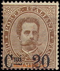 43504 - 1890 Mi.56, přetisková 20C na 30c hnědá, stopa, původn�