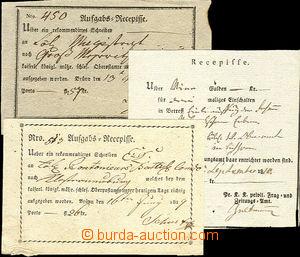43506 - 1810-19 Recepisse, 3ks každý jiný, odeslané z Brna v roc