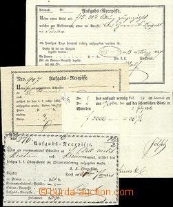 43507 - 1816-47 Recepisse, 4ks, odeslané z Vídně, Terstu, Brna a