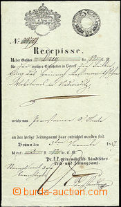 43508 - 1847 Receipt, subscription on/for newspaper in Brno, revenue