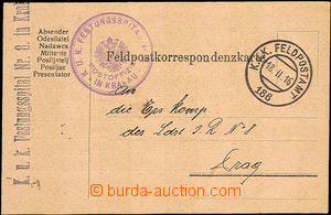 43517 - 1916 FP card with additional-printing on reverse, CDS FP No.
