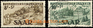 43784 - 1949 SAARLAND  Mi.262-63, whole set, clear postmark, nice, c