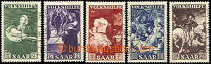 43787 - 1951 Mi.309-13, People's Aid, whole set, clear postmark, nic