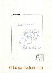 43811 - 1978 ZINNEROVÁ Markéta, podpis spisovatelky