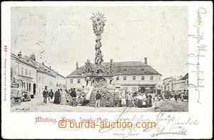 43826 - 1899 Mödling - Rakousko, čb jednozáběrová, náměstí,